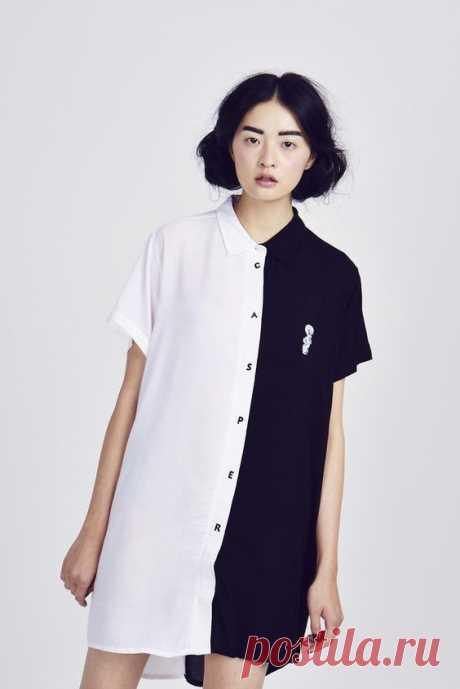 Платье рубашка из двух Модная одежда и дизайн интерьера своими руками