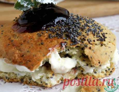Сконы с маком и черничным джемом – кулинарный рецепт