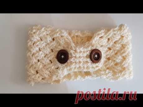 Banda - diadema a crochet - tejido a Ganchillo - tutorial paso a paso