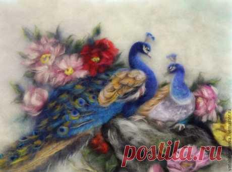 Картины из шерсти: птички — Сделай сам, идеи для творчества - DIY Ideas