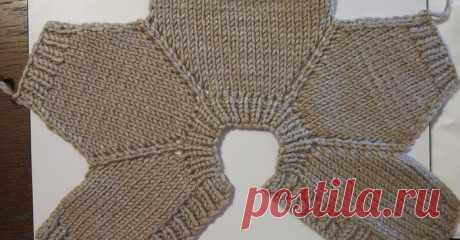 Схема вязания реглана сверху от ворота