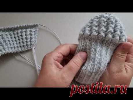 Как уплотнить пятку носка Самый лёгкий способ для вязания пятки