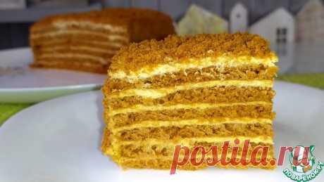 """Ленивый торт """"Медовик"""" с карамельным вкусом Кулинарный рецепт"""