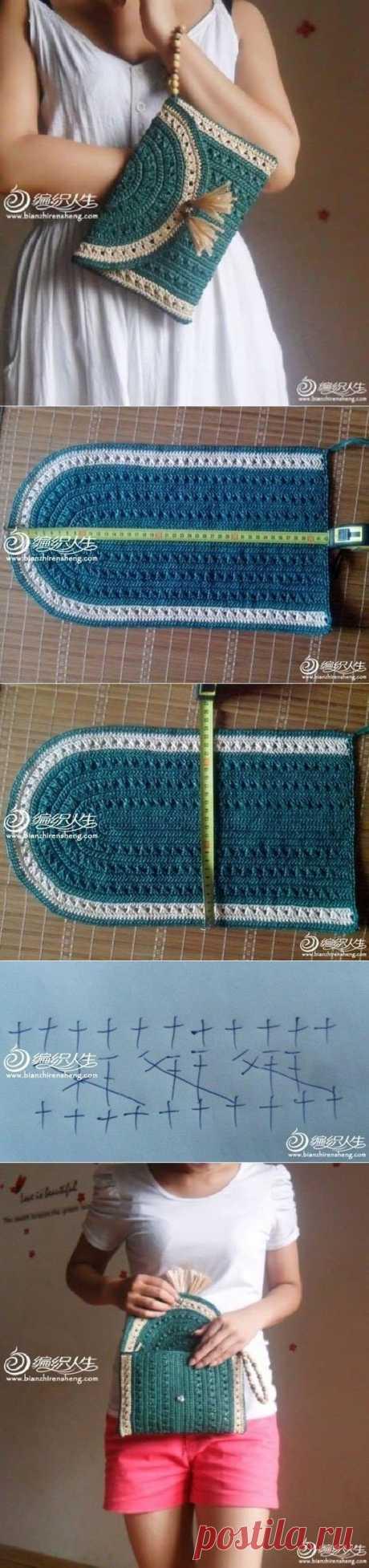 (189) Crochet Clutch / Purse / Bag …