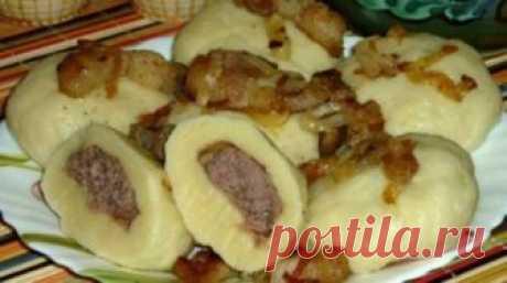 Украинские галушки с мясом. Лучшее блюдо, что я пробовала за последнее время... - Ok'ейно Основные ингредиенты: Картофель – 400 гр, Мука – 350 гр, ...
