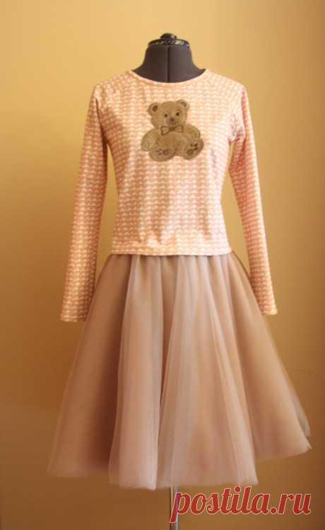Как сшить юбку-шопенку из фатина — Мастер-классы на BurdaStyle.ru