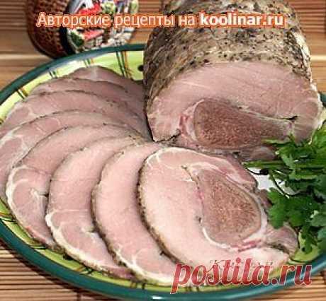 """Рулет из свинины с языком """"деликатесный"""" - рецепт.."""