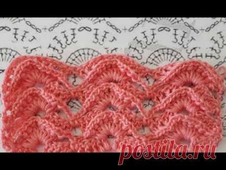 Рельефный УЗОР, Вязание КРЮЧКОМ , crochet beautiful pattern ( Узор № 302)