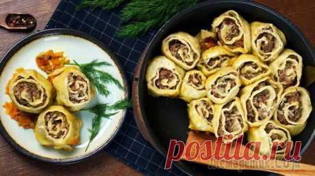 Ленивые пельмени «Мясные розы» / Сытный ужин