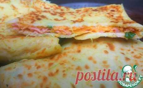 Кабачковые конвертики с сыром и колбасой – кулинарный рецепт