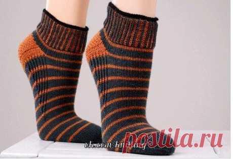 Вязание коротких носков спицами для занятий спортом… (4 фото)   WmnDay.ru - Handmade, фитнес, интерьеры