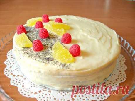 Маковый торт с заварным кремом - простой и вкусный рецепт с пошаговыми фото