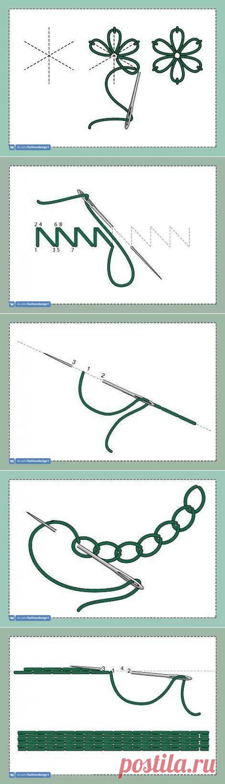 Замечательная подборка ручных швов — Сделай сам, идеи для творчества - DIY Ideas