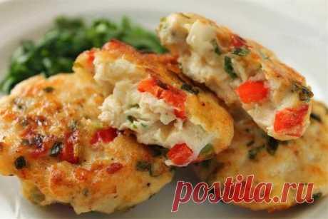 Нежные куриные котлетки с овощами — Sloosh – кулинарные рецепты