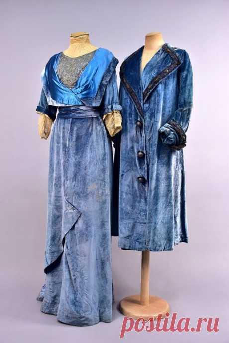 Ансамбль из синего бархата. Дом моды Ворта, Франция, начало ХХ в. / X-Style