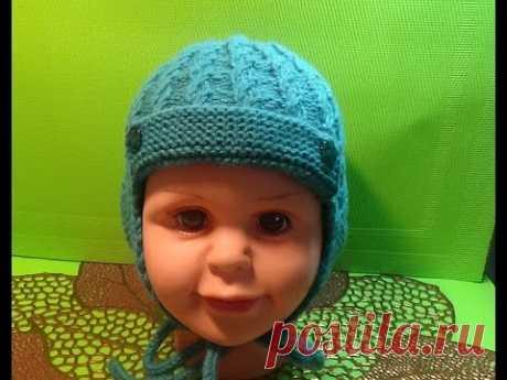 Вязание спицами шапочка для мальчика #149