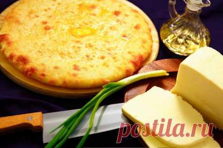 Осетинский пирог с сыром на сковороде. | ОБО ВСЁМ