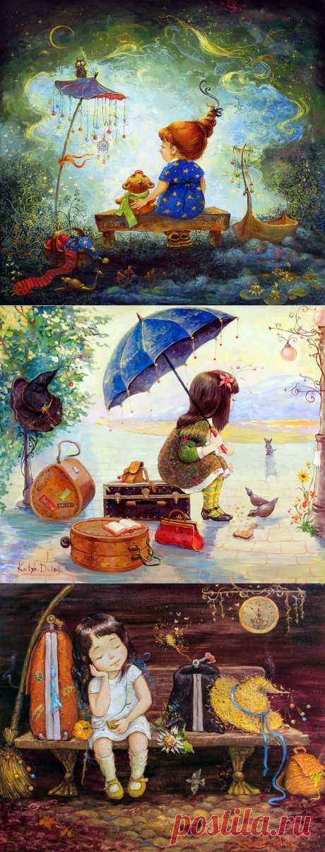 Разноцветный мир детства. Художница Катя Дудник..