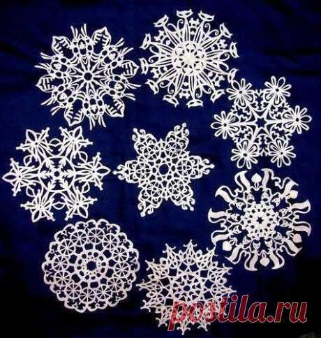 Самых оригинальные снежинки из бумаги / Необычные поделки