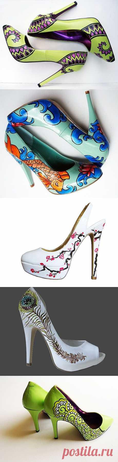 Расписные туфли (подборка) / Обувь / Модный сайт о стильной переделке одежды и интерьера