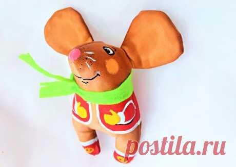 Оригинальная кофейная игрушка крыса: выкройка и МК по пошиву своими руками