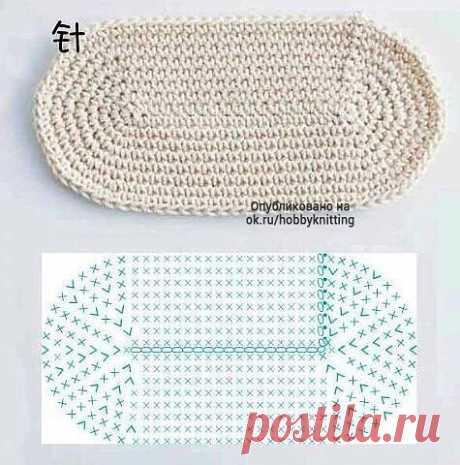 Схемы вязания овалов и кругов крючком