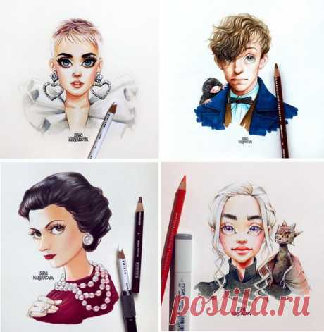 Лера Кирьякова — художница, известная во всем мире своими «мультяшными» портретами знаменитостей.