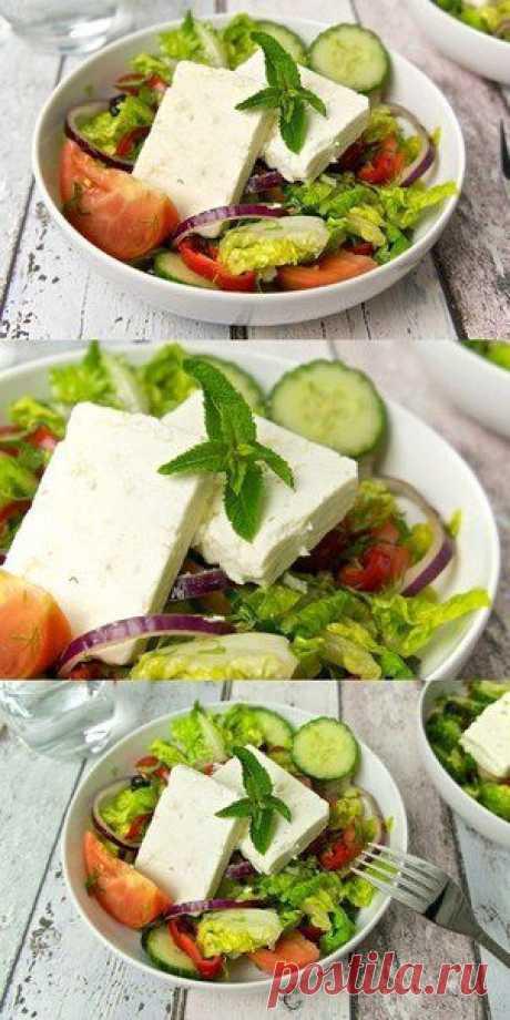 Греческий салат с брынзой | Поваренный сайт