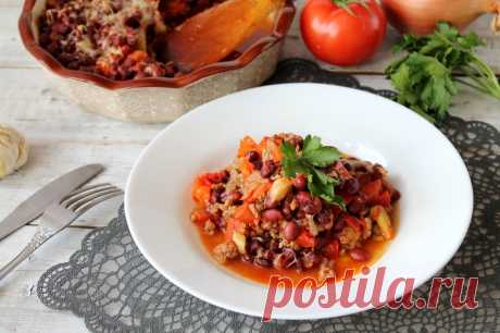 Овощное рагу с фаршем в духовке рецепт с фото пошагово - 1000.menu