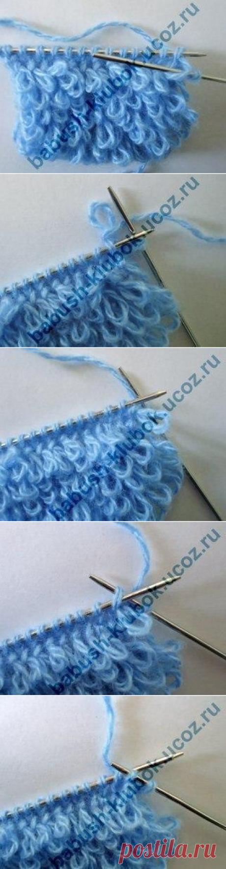 """Узор """"Мех"""" или махровое вязание — Сделай сам, идеи для творчества - DIY Ideas"""