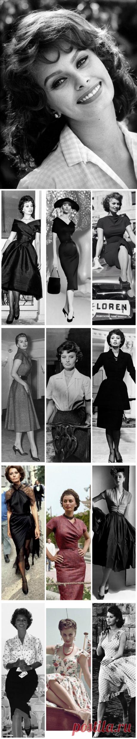 Икона стиля - Софи Лорен. Как одевалась и сопротивлялась попыткам «переделки» ее внешности популярнейшая актриса 20 века.   Мода вне времени   Яндекс Дзен