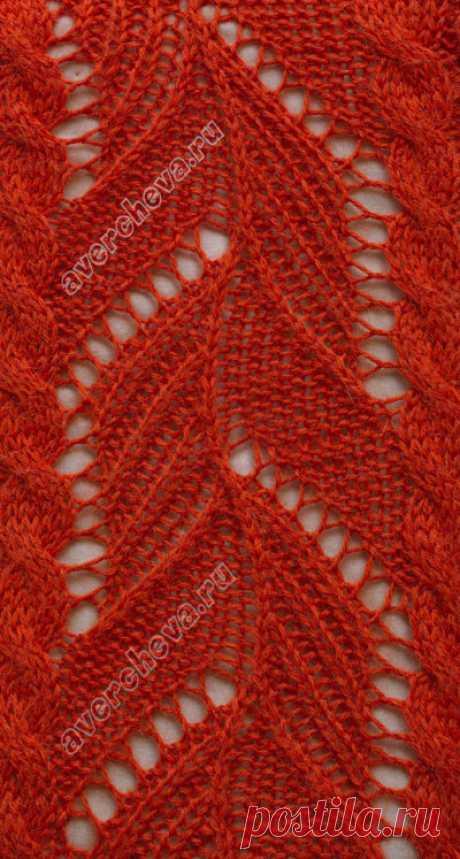 ажурные листочки между жгутами