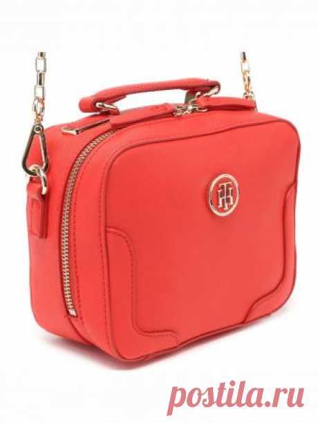 Женская сумка Tommy Hilfiger цвет красный за 5 499 Р