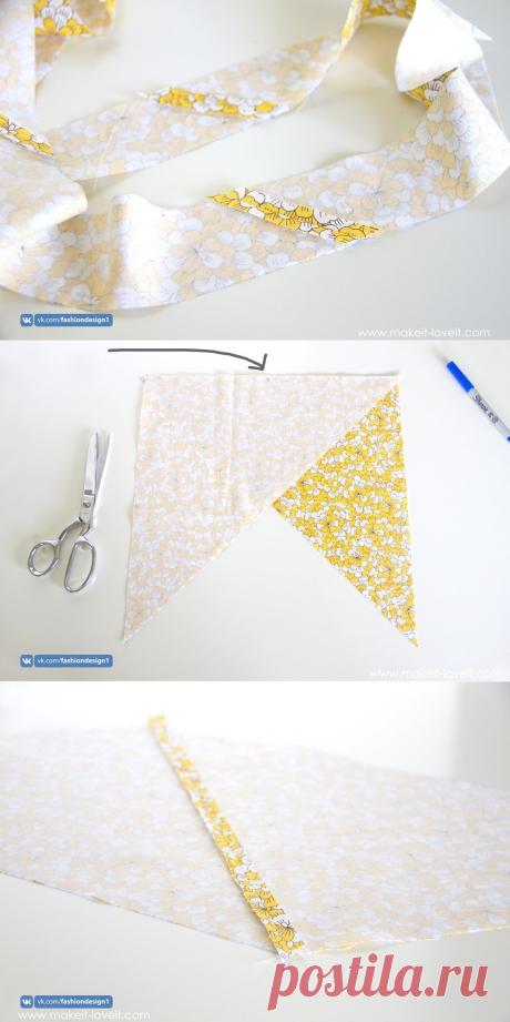 Как сделать длинную косую бейку своими руками — Сделай сам, идеи для творчества - DIY Ideas
