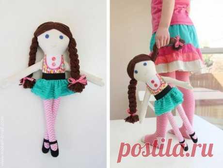 Куклы своими руками: 4 выкройки и мастер-классы по шитью   Дама