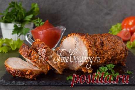 Свинина, запеченная в горчице в духовке Изумительно вкусное и ароматное блюдо из мяса, которое можно приготовить как для семейного обеда, так и праздничного стола.
