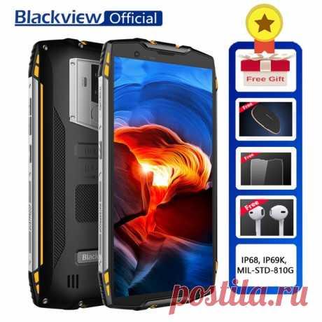 """Не переплачивай ! Купи на Алиэкспресс! Доставка бесплатно!  Blackview BV6800 Pro Android 8,0 мобильный телефон 5,7 """"MT6750T Octa Core 4 ГБ + 64 ГБ 6580 мАч Беспроводной зарядное устройство NFC Водонепроницаемый смартфон купить на AliExpress"""