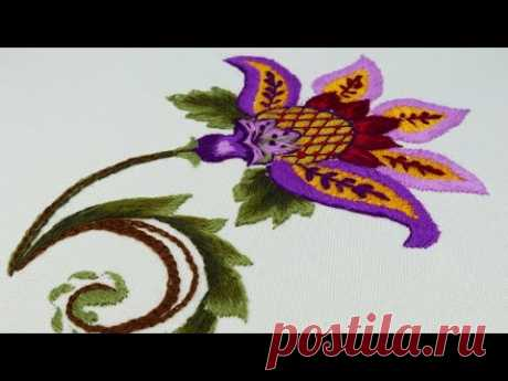 Якобинская вышивка   Jacobean Embroidery: Crewel Work
