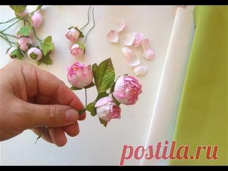 Цветы из фоамирана Маленькие пионы из фоамирана DIY