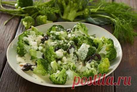 Теплый салат из брокколи с сыром – пошаговый рецепт с фото.