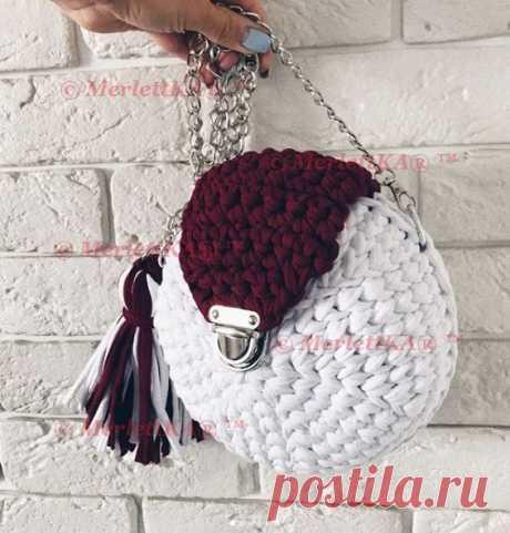 Подборка по сумкам и текстильным корзинкам из трикотажной пряжи ❤ вязание крючком