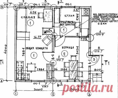 Типовой проект одноэтажного летнего садового домика 6х6м | Планировка | Яндекс Дзен