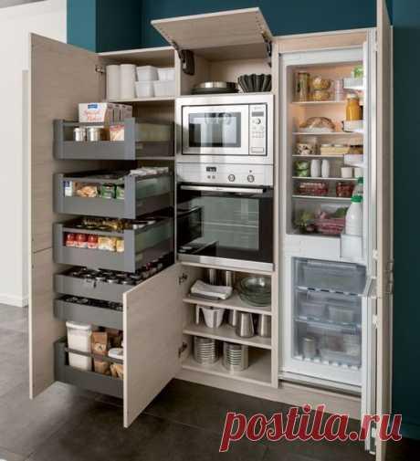 Практичный шкаф для кухни.