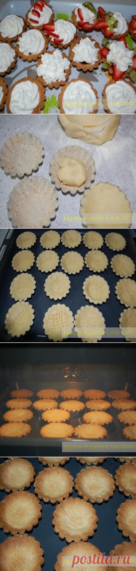 Песочные корзинки - пошаговый фоторецепт - десерт пирожноеКулинарные рецепты