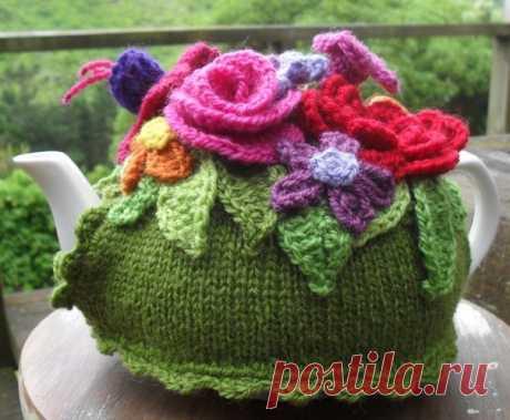 Цветочная грелка для чайника