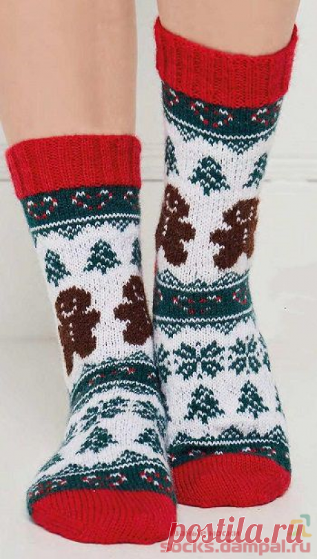 Вязаные носки «Christmas Treat» | ВЯЗАНЫЕ НОСКИ
