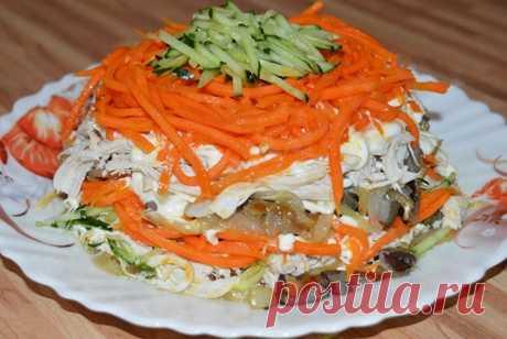 Пикантные салаты сгрибами икорейской морковью Пошаговые рецепты приготовления салатов с грибами и корейской морковью. А так же несколько секретов и советов от шеф повара