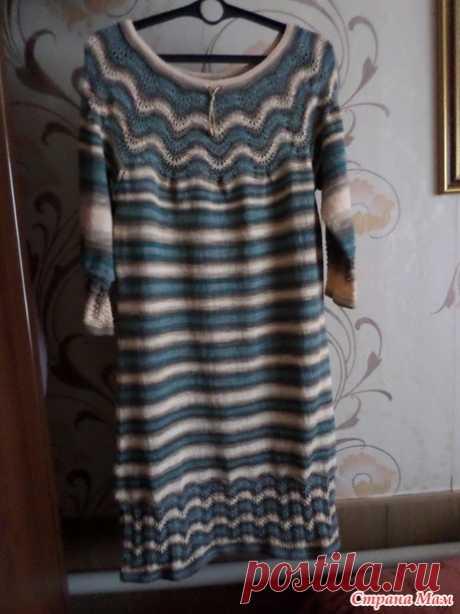 Весеннее платье спицами из Ализе Дива Батик - Вязание - Страна Мам
