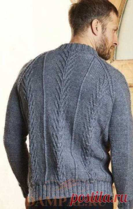 The men's Oban jumper the Men's jumper a raglan is connected with a sleeve by unostentatious drawing and has a fastener on горловине. The Description of a jumper from the designer of Pat Menchini is translated from the The Knitter magazine.