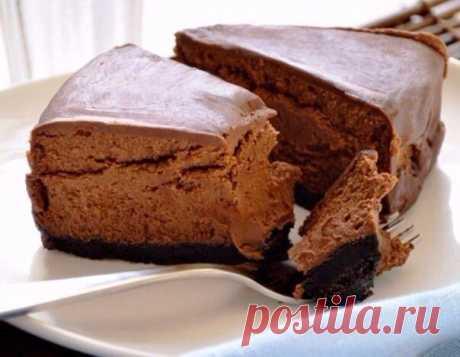 Шоколадный чизкейк для тех, кто следит за фигурой А какой вкусный то!